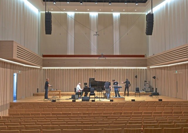 Inside of the Stoller Hall, Manchester